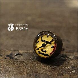 Foret(フォーレ) スチームパンク 圧力メーター型 ピアス「Meter Pierced Earring Antique ver.」 ブラス(真鍮)、Silver925 【メンズ レディース ユニセックス アクセサリー ジュエリー カラクリ アンティーク 目盛り 蒸気機関 計器 ウラカタ E-0001A】