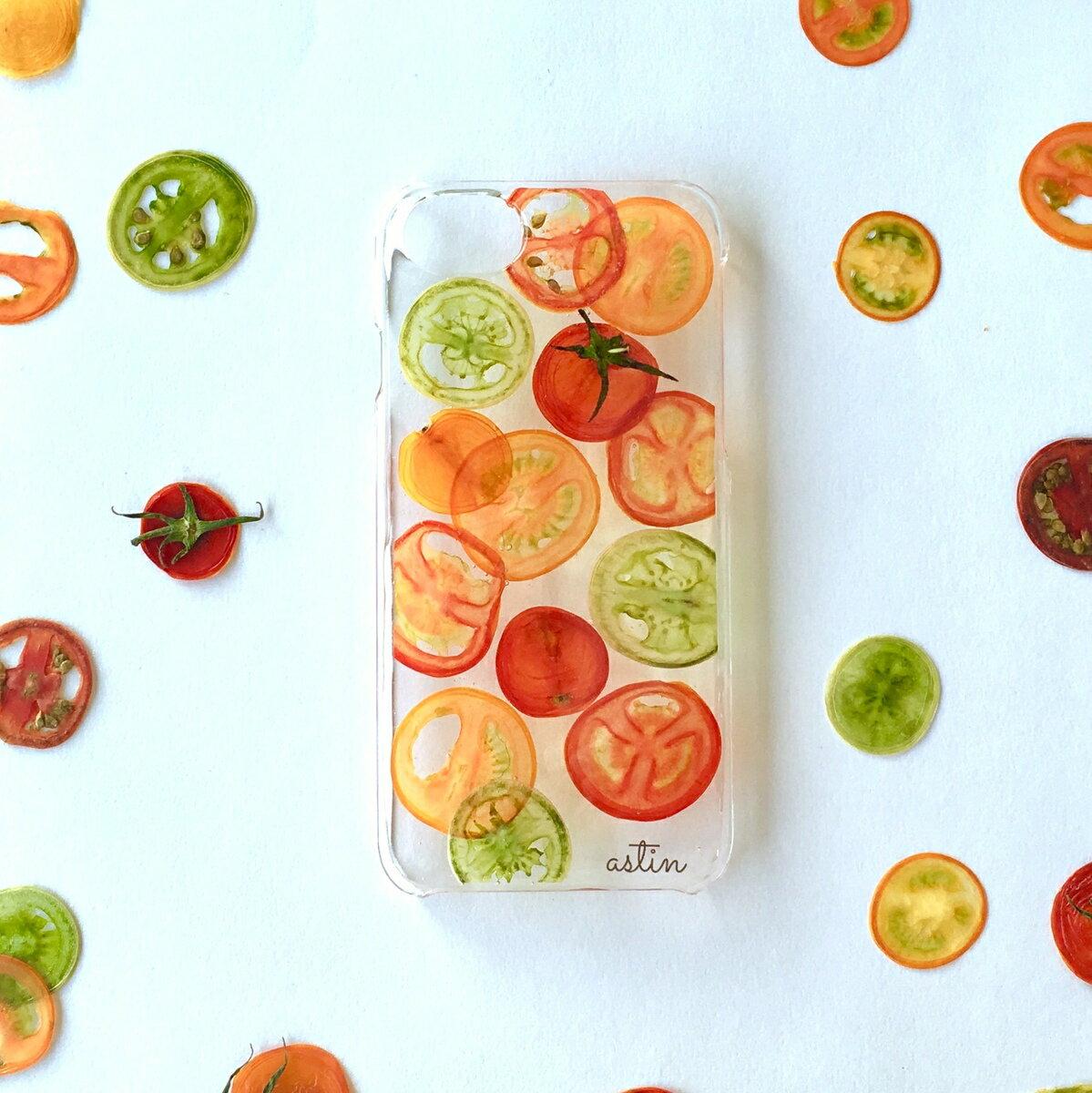 カラフルミニトマト 押し花 押し野菜 ミニトマト プチトマト 野菜 全機種対応 iPhone XS ケース iPhone XR iPhone XS max ケース iphone x ケース iphone8 iphone7ケース スマホ iphone8Plus