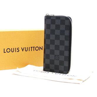 Louis Vuitton Louis Vuitton round fastener long wallet ダミエグラフィットポルトフォイユ ヴァスコブラックグレーダミエグラフィットキャンバス N61653 - b10158