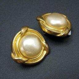 香奈爾CHANEL耳環黄金金屬材料x假貨珍珠女士[中古][經典的人氣]-t7786