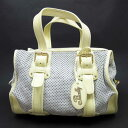 Barry BALLY handbag gray x yellow suede x patent leather Lady s 9 e7b89bf036397