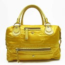 It is - t9541 トッズ TOD S handbag yellow nylon x leather Lady s 9 e6d8136fb92a5