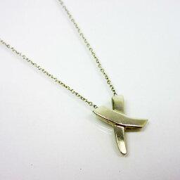 蒂芙尼Tiffany&Co. 項鏈交叉蝴蝶結◆銀子銀子925◆經典的受歡迎的[中古]◆女士-t10622