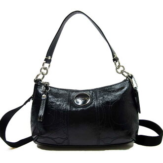 Take coach COACH slant; shoulder bag 2Way bag ◆ black patent x leather ◆ constant seller popularity ◆ Lady's - h13850
