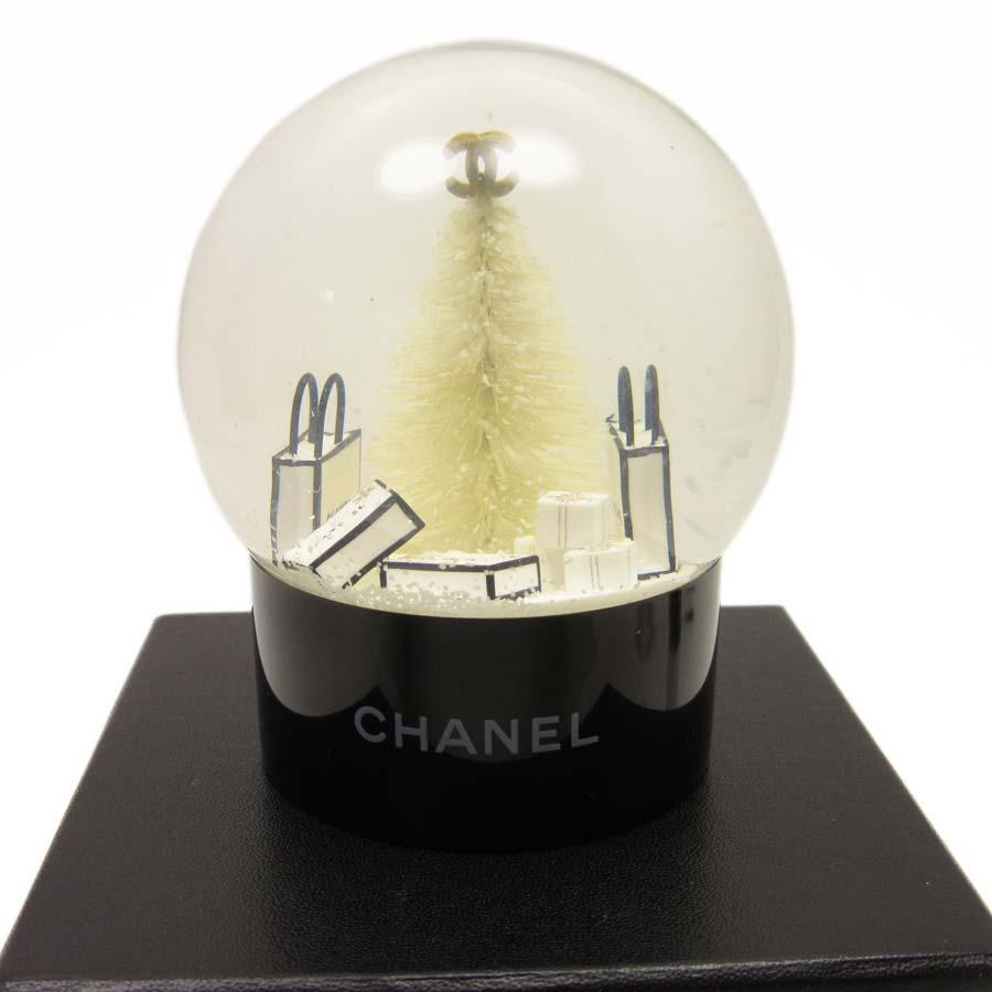 シャネル CHANEL スノードーム 置物 2012年顧客様限定 ブラックxホワイト ガラスxプラスチック レディース 【中古】【定番人気】 - t11991