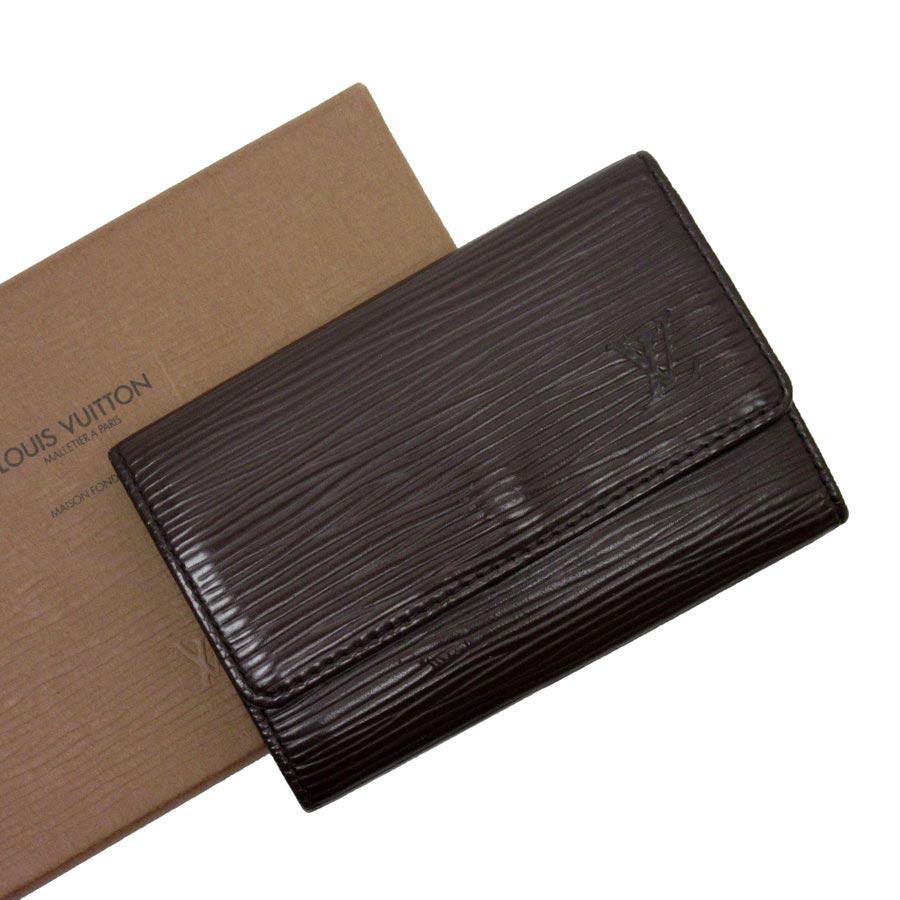 ルイヴィトン Louis Vuitton 6連キーケース エピ ミュルティクレ6 モカ エピレザー レディース メンズ M6381D 【中古】【訳あり】 - h17064