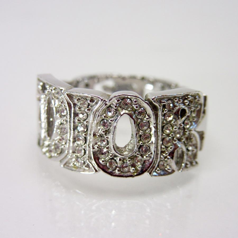 ディオール Dior 指輪 リング シルバー 金属素材xストーン レディース 【中古】【訳あり】 - h17446