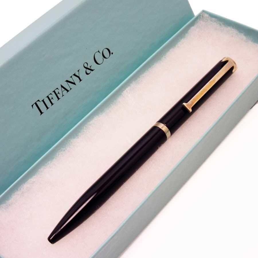ティファニー Tiffany&Co. ボールペン Tクリップ ネイビーxシルバー SV925 レディース 【中古】【定番人気】 - g0035