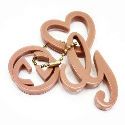古馳GUCCI鑰匙圈迷人互鎖式握桿G粉紅x黄金塑料女士[中古][經典的人氣]-g0115