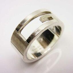 古馳GUCCI戒指環G標識銀子SV925女士[中古][經典的人氣]-n8535