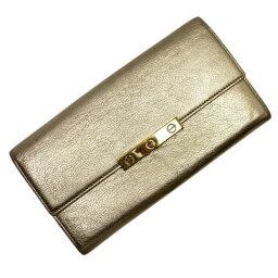 卡地亞Cartier長錢包LOVE收集黄金皮革女士[中古][經典的人氣]-t12882