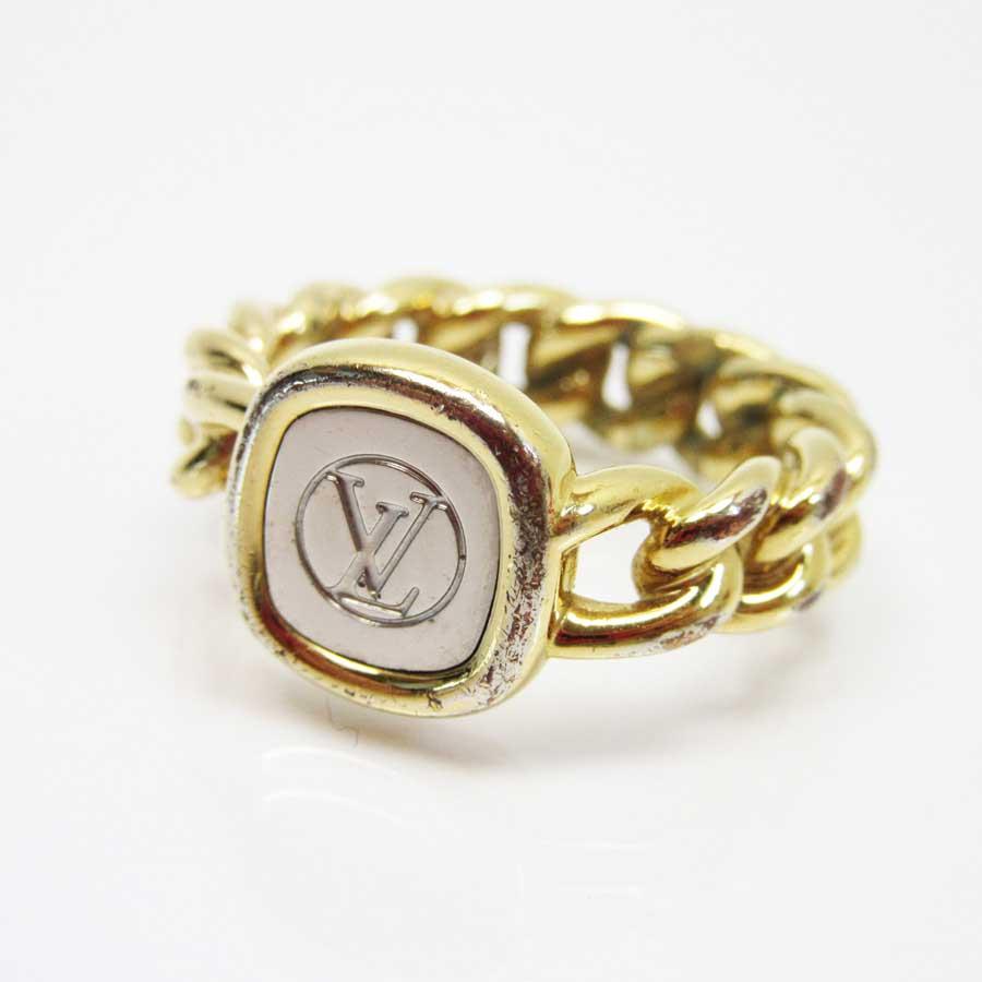 ルイヴィトン Louis Vuitton 指輪 リング LVリング シルバーxゴールド GP(ゴールドメッキ) レディース メンズ M61094 【中古】【定番人気】 - g0347