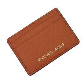 【新品同様】マイケルコース MICHAEL KORS カードケース 定期入れ パスケース オレンジxゴールド レザー レディース 【中古】 - t13601
