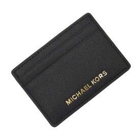 マイケルコース MICHAEL KORS カードケース 定期入れ パスケース ブラックxゴールド レザー レディース 【中古】【定番人気】 - t13614