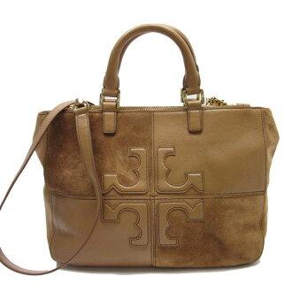 4916ea6083 BrandValue: Take Tolly Birch TORY BURCH handbag slant; shoulder bag 2Way  bag brown x gold leather x suede Lady's - t13817 | Rakuten Global Market