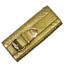 7f43d97c6 Gucci GUCCI clutch bag gold python x metal material Lady's - h20532