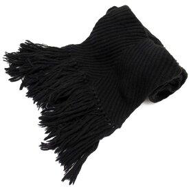 ルイヴィトン Louis Vuitton マフラー ブラック ウール70% カシミア30% 【中古】【定番人気】 - x2895