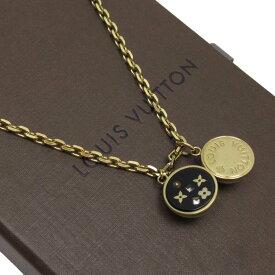 ルイヴィトン Louis Vuitton ネックレス フラワー ゴールドxブラック 金属素材 レディース 【中古】【定番人気】 - t15334