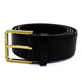 ディオールオム ベルト(105) ブラックxゴールド レザー x金属素材 Dior Homme メンズ 【中古】【定番人気】 - t15365