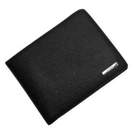 フェンディ FENDI 二つ折り財布 ブラックxシルバー レザー 【中古】【定番人気】 - h25236e