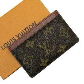ルイヴィトン Louis Vuitton カードケース 名刺入れ 定期入れ モノグラム ポルトカルトサーンプル モノグラムキャンバス M61733 【中古】【おすすめ】 - g2146e