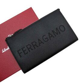 【新品同様】サルヴァトーレ フェラガモ Salvatore Ferragamo クラッチバッグ セカンドバッグ カード入れ付き ブラック レザー 【中古】 - g2243a