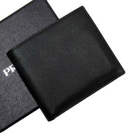 プラダ PRADA 二つ折り財布 NERO(ブラック) サフィアーノレザー 【中古】【定番人気】 - 53414a
