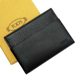 トッズ TOD'S カードケース パスケース ブラック レザー 【中古】【定番人気】 - g2350a