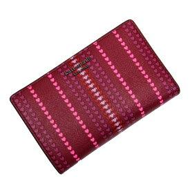 【未使用】【新品】ケイトスペード kate spade 二つ折り財布 レッド系xピンク系 PVCxレザー - 53550g
