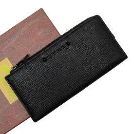 エトロ Etro 二つ折り長財布 ブラックxレッド系xホワイト レザー 【中古】【おすすめ】 - h27050f