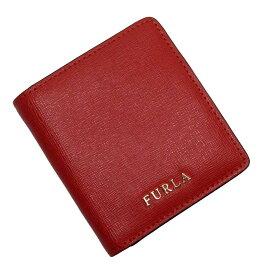 フルラ FURLA 二つ折り財布 レッドxゴールド レザー 【中古】【定番人気】 - t17376a