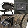 克裏斯琴迪奥Christian Dior handobagguromatikkutorotta花紋棕色PVCx皮革-t7001