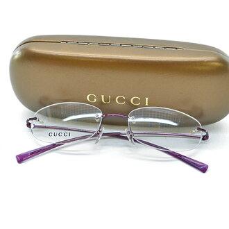 古馳GUCCI眼鏡(沒有度)52□17 135◆紫金屬材料◆經典的受歡迎的◆女士-k7611