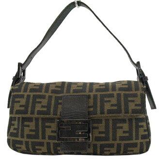 Nylon x leather ◆ constant seller popularity shoulder bag ◆ - k6232 of Fendi FENDI ハンドバッグズッカ pattern ◆ Brown line