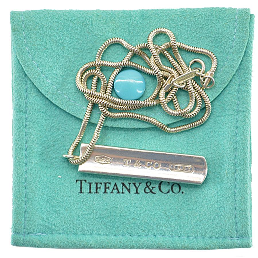 ティファニー Tiffany & Co. ネックレス 1837 プレート シルバーカラー SV925 レディース 【中古】【定番人気】 - r6188