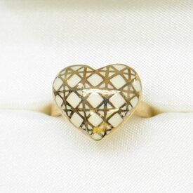 クリスチャンディオール Christian Dior 指輪 ゴールドxホワイト 金属素材 リング レディース 【中古】【定番人気】 - 53542f