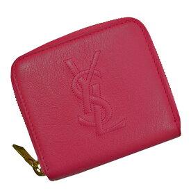 サンローラン SAINT LAURENT 財布 レッド系ピンクxゴールド レザーx金属素材 二つ折り レディース 【中古】【おすすめ】 - 53612g