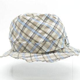 ボッテガヴェネタ BOTTEGA VENETA 帽子 モカブラウンxブルーxブラックxグレー コットン81%xシルク39% バケットハット レディース 【中古】【アウトレット】 - 53728a