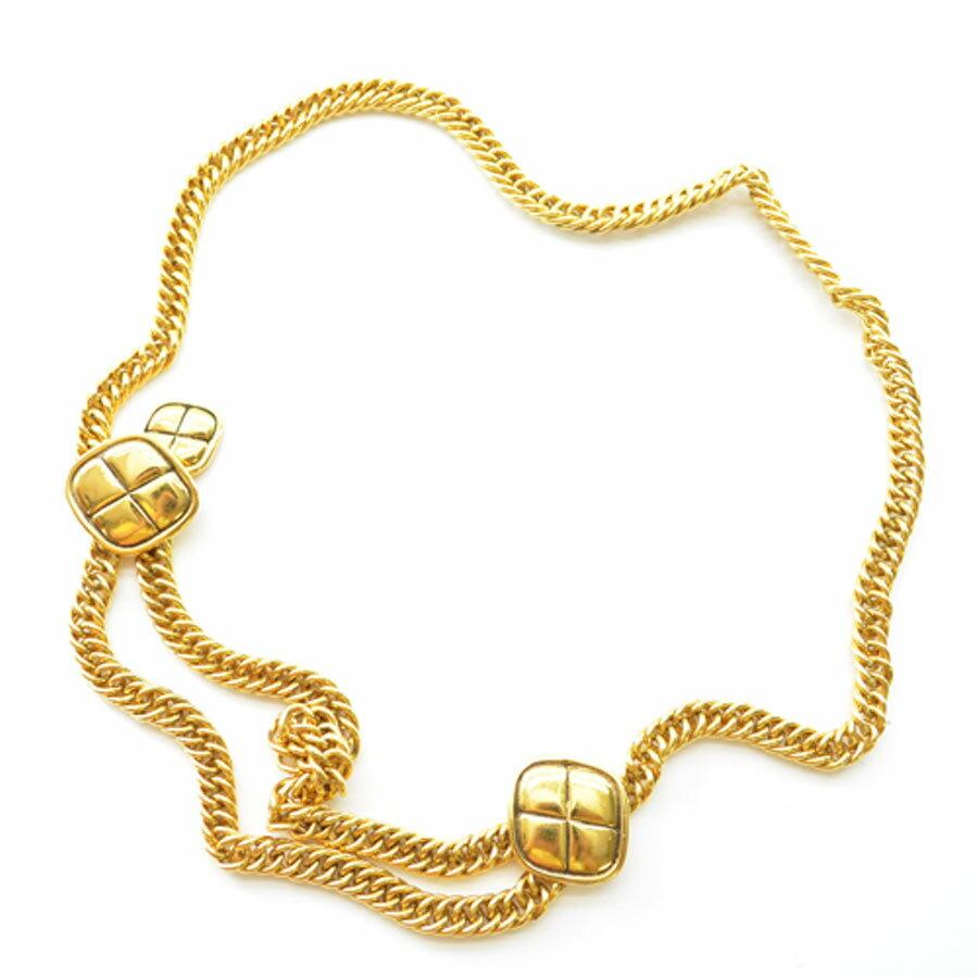シャネル CHANEL ベルト ◆ゴールドカラー 金属素材◆定番人気【中古】チェーン ◆レディース - k6734