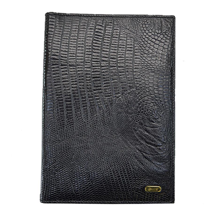 バリー BALLY 手帳カバー ブラックxゴールドカラー 型押しレザーx金属素材 レディース メンズ 【中古】【定番人気】 - k8399