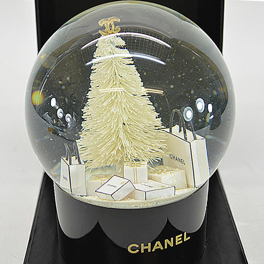 シャネル CHANEL スノードーム 2012年顧客様限定 ブラックxホワイト ガラスxプラスチック 置物 レディース 【中古】【ノベルティ】 - r6311