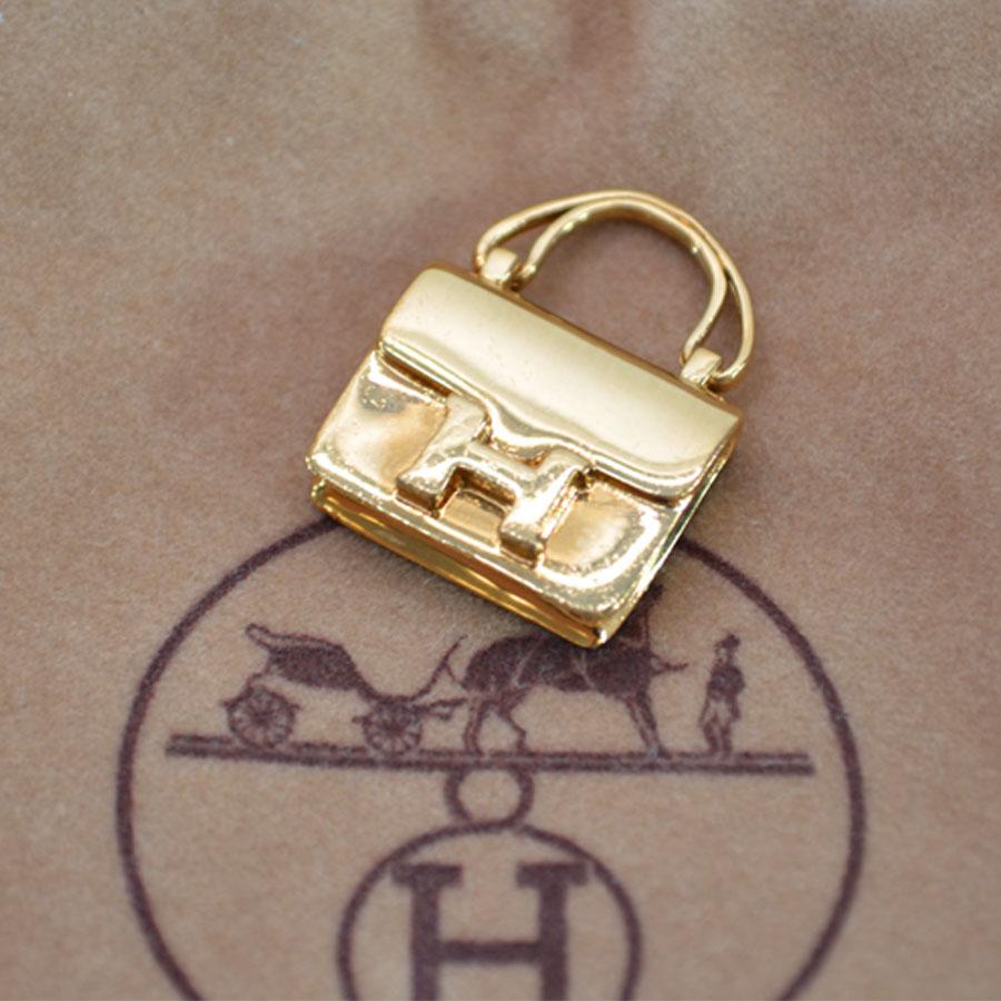 エルメス HERMES ネックレストップ バッグモチーフ ゴールド 金属素材 ペンダントトップ レディース メンズ 【中古】【定番人気】 - r6468