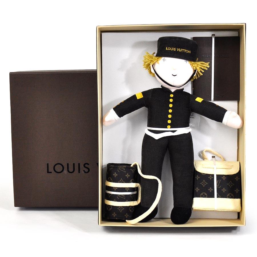 【美品】ルイヴィトン Louis Vuitton グルーム 2013年クリスマス ノベルティ VIP限定 ブラウンxライトピンクxキャメルxホワイト コットン100% ベルボーイ ぬいぐるみ レディース メンズ プレミアム特集【中古】 - 93927