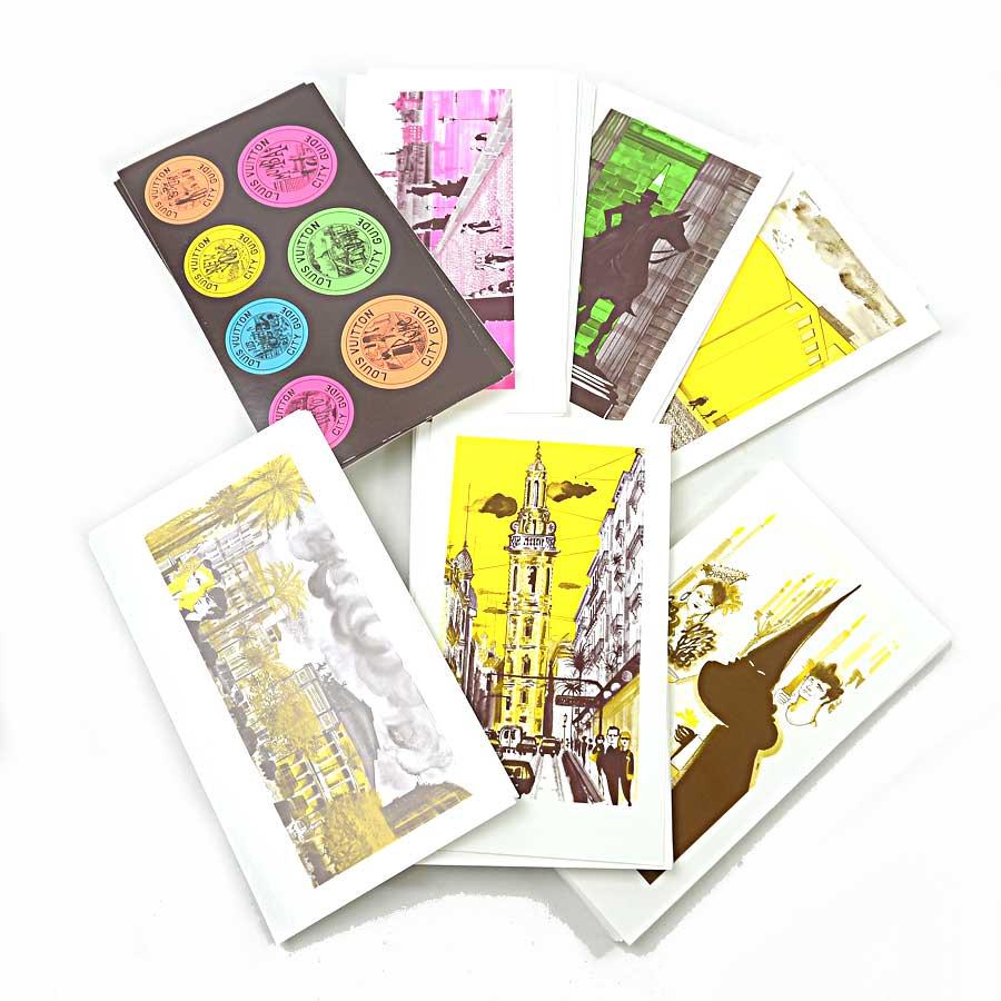 ルイヴィトン Louis Vuitton ポストカード100枚 シティ・ガイド マルチカラー ペーパー レディース メンズ R07342 【中古】【おすすめ】 - x2039
