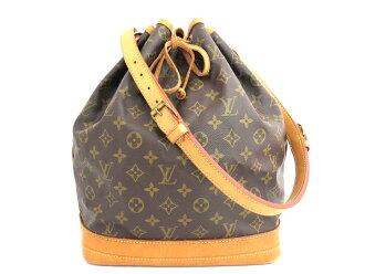 路易威登Louis Vuitton包交织字母Monogram noe Noe◆Brown Gold棕色x黄金金属零件皮革◆经典的受欢迎的挎包钱褡包◆女士◆◆-e25402