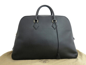 Hermes HERMES バッグサンプロン Simplon vintage Vintage black x gold metal fittings Ardennes leather constant seller popularity Boston bag handbag Lady's men emergency reduction in price - e26997