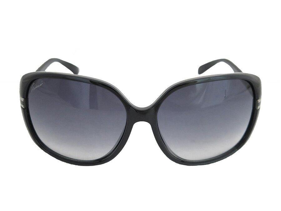 グッチ GUCCI サングラス GG ロゴ インターロッキングG ブラック プラスチック ファッションサングラス バタフライグラス レディース 【中古】【おすすめ】 - e31663