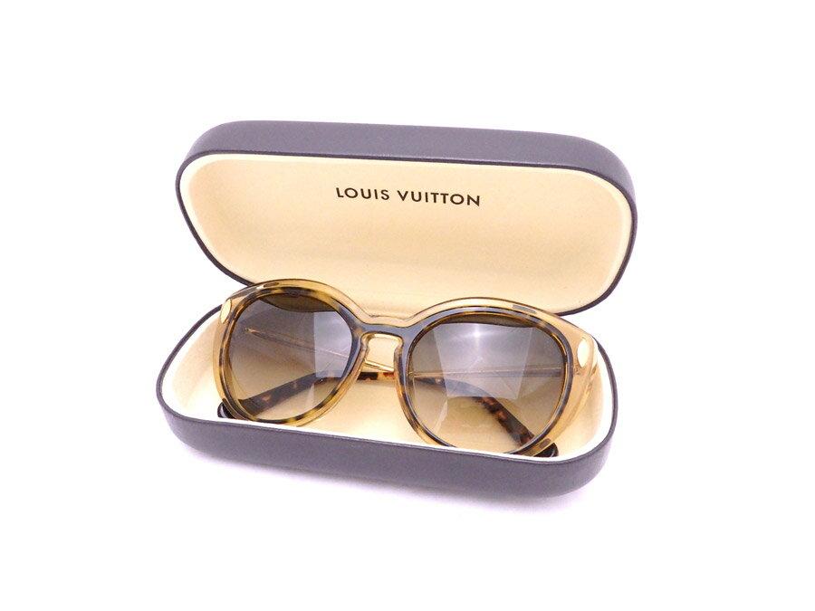 ルイヴィトン Louis Vuitton サングラス ロゴ ブラウンxゴールド金具 プラスチック ファッションサングラス ロゴサングラス レディース Z0673E 送料無料【中古】【おすすめ】 - e32170