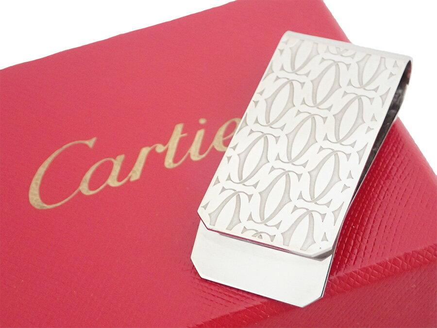 カルティエ Cartier マネークリップ 2Cモチーフ シルバー 金属素材 お札挟み マネーホルダー レディース メンズ 【中古】【定番人気】 - e32975