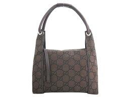 古馳GUCCI包GG帆布暗褐色x銀子金屬零件尼龍x皮革手提包挎包女士152280[中古][經典的人氣]-e33446